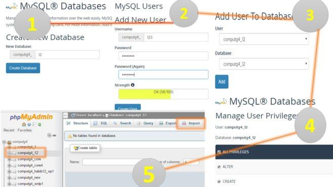 how to upload database