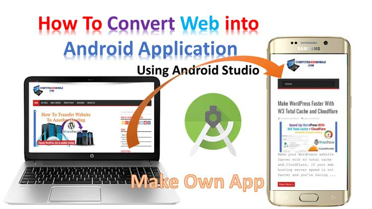 convert website into android application