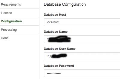configuration to make social network website
